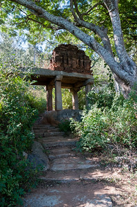 The trail to Nandi Hills passes through ancient structures; outside Bangalore.