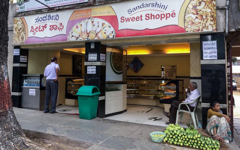 My favorite sweet shop, Sampige Rd, Bangalore