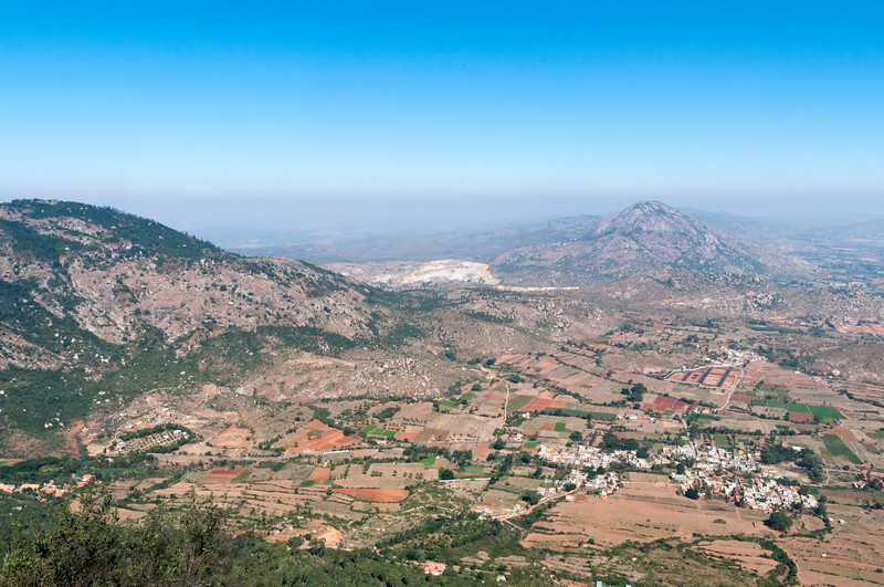 Hazy view from Nandi Hills, outside Bangalore.