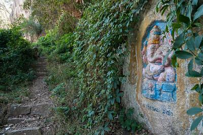 Trailside Ganesha monument, Nandi Hills, outside Bangalore.