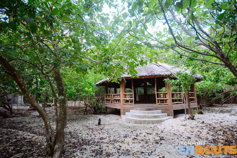 A pavilion within the mangroves