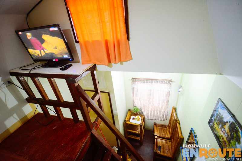 Cable TV and the loft stairs