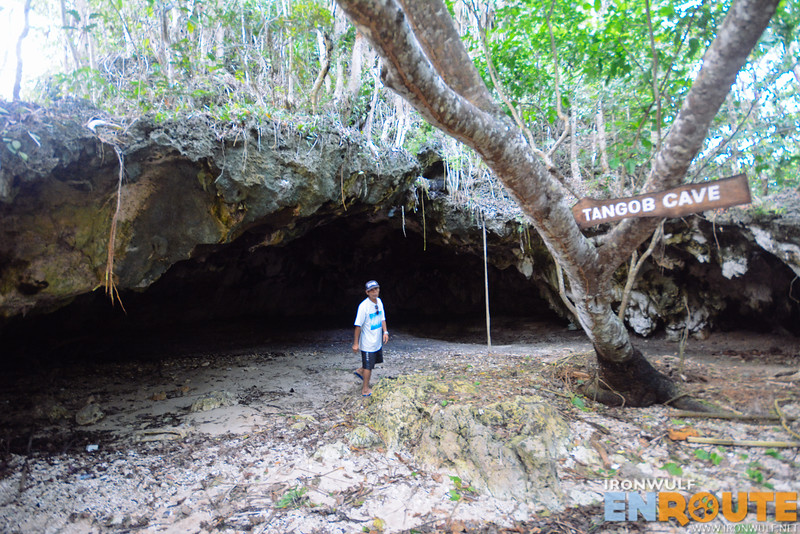 At the wide-open chamber of Tangob Cave