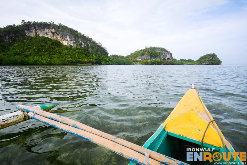 Approaching Lamanoc Island