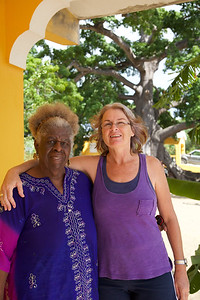 Lady Ruby Bute in St. Martin, wonderful artist at The Silk Cotton Grove Art Gallery  Lady Ruby Bute in St. Martin, wonderful artist at The Silk Cotton Grove Art Gallery with fellow artist Stephanie Tihanyi