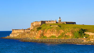 Sunset at the fort in San Juan
