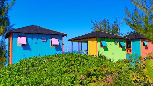 Colorful Beach Cabanas at Half Moon Cay