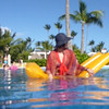 Floating in Punta Cana pool