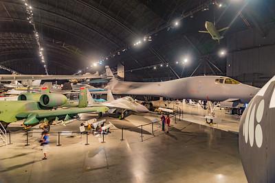 B1 bomber, right.  Soviet Mig 29 center.