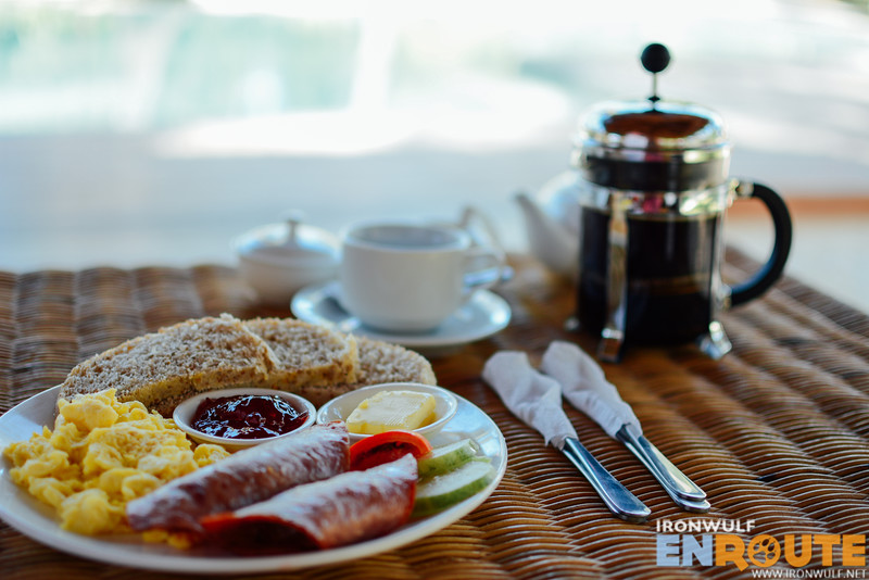 Breakfast and really good coffee can be served at the gazebo or your own balcony