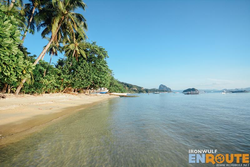 The resort beachfront in Corong-corong