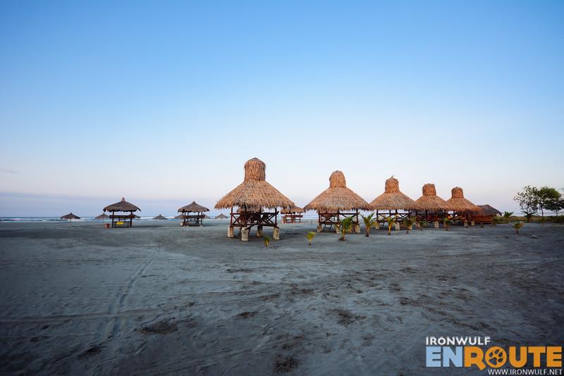 Beach huts from El Puerto Marina