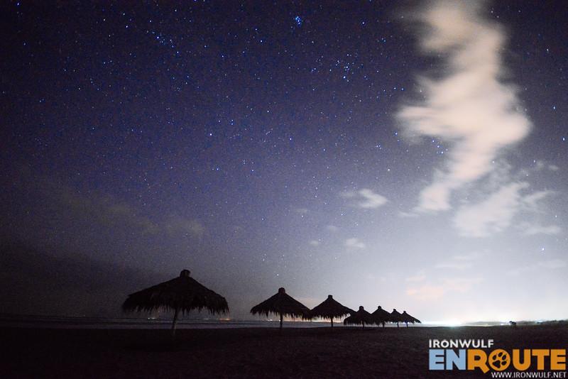 Night falls in Lingayen