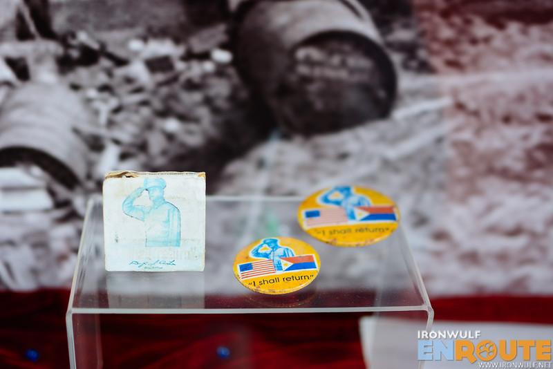 Memorabilia from World War II on display