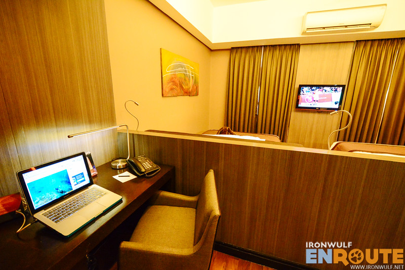 My work desk at the City Suite Room with high speed internet lan