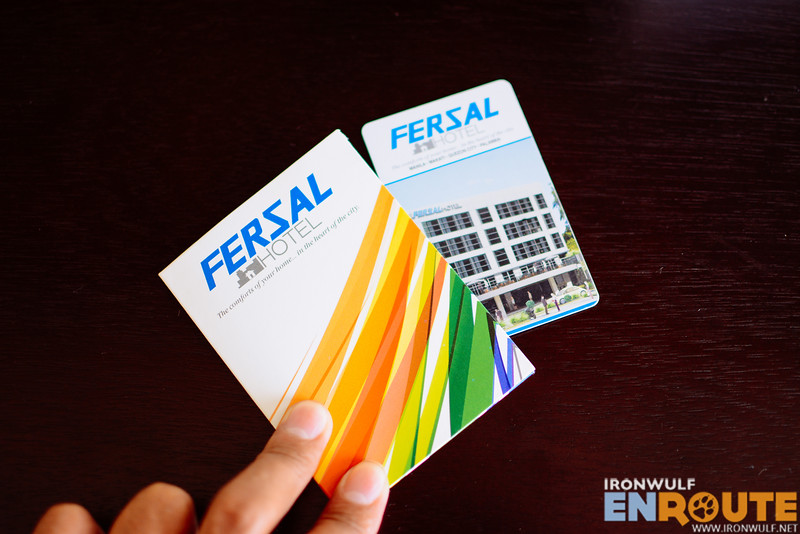 The hotel key card