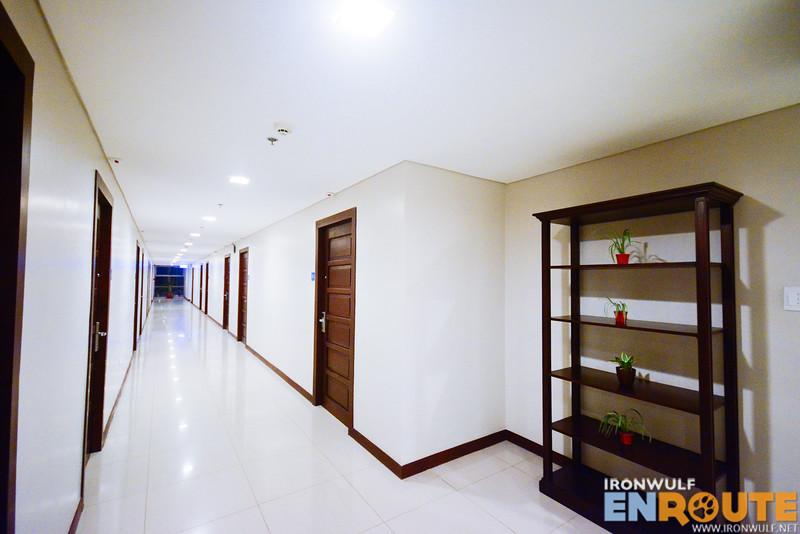 The hotel corridor