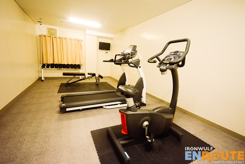 The mini-gym in the hotel