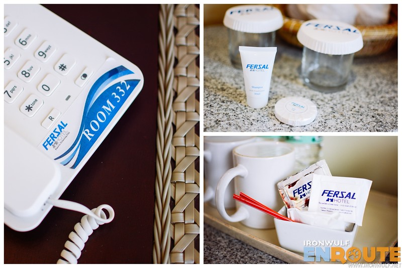 Hotel-branded items in the room
