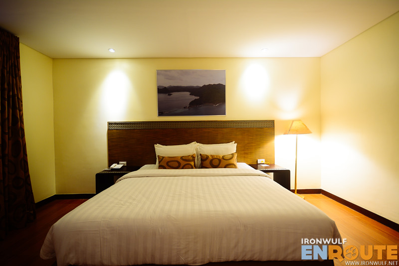 The huge bedroom at the Junior Suite
