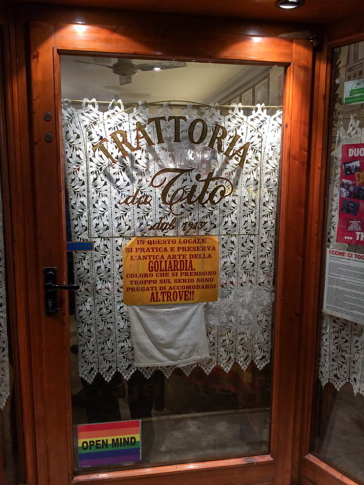 Trattoria da Tito, Florence.  Great food, casual atmosphere, irreverent/fun staff.