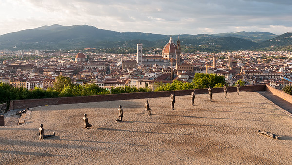 A modern art installation at Forte di Belvedere - Florence.
