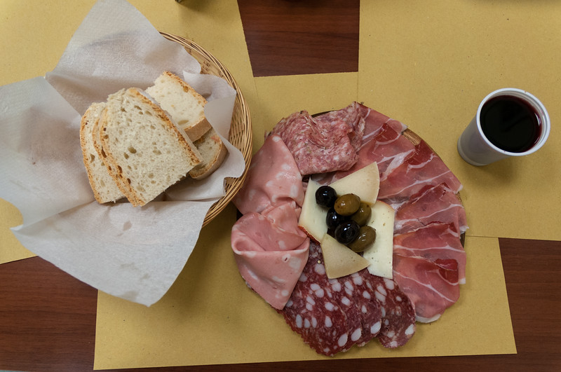 A delicious lunch from one of the Shops in Mercato Centrale - Florence