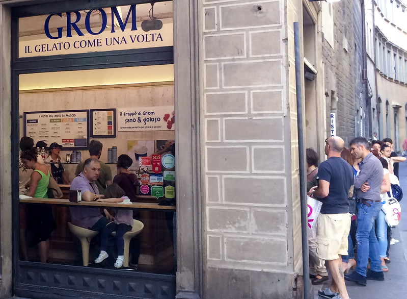 Grom, reputed to be one of the best Gelato shops in Florence.