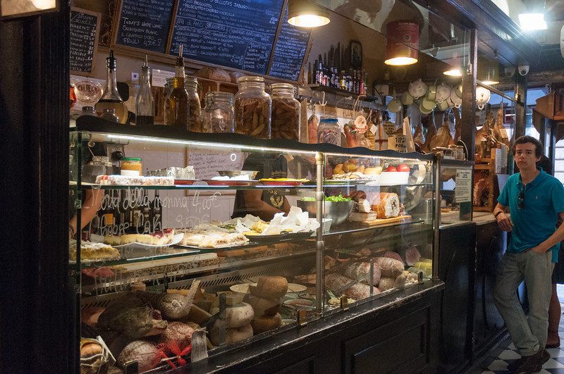 La Proscuitteria, source for a wonderful lunch. - Florence.