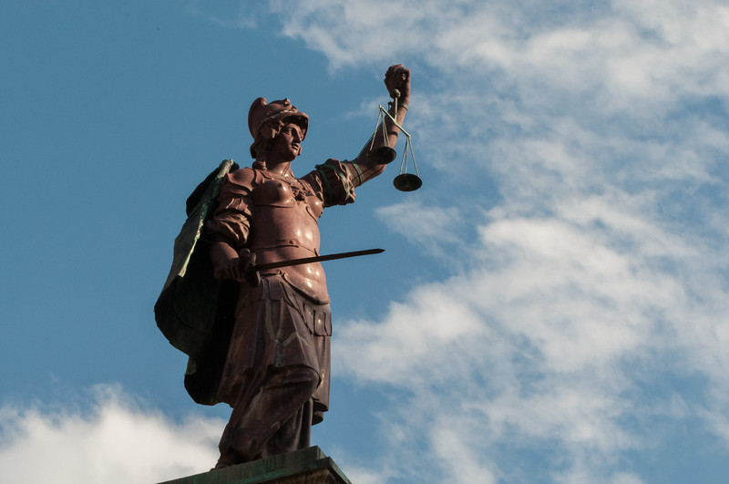 Statue of Justice next to Hotel Tornabuoni Beacci.