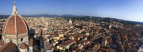 Panoramic view from Campanile di Duomo - Florence