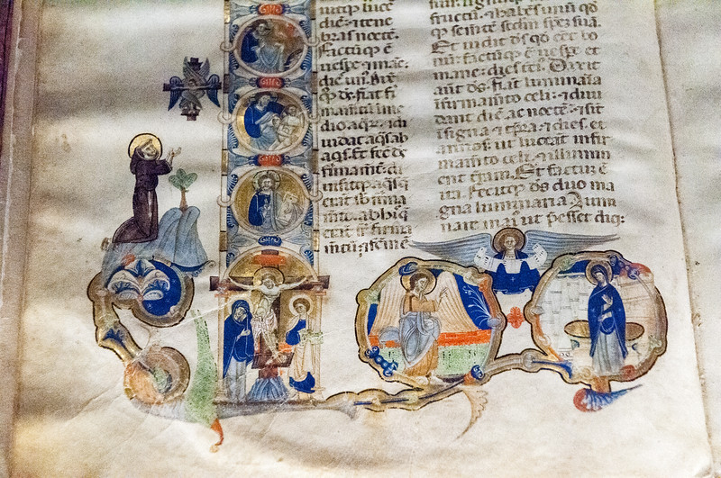 Franciscan bible - dated 1265-1270 - Galleria dell'Accademia - Florence.
