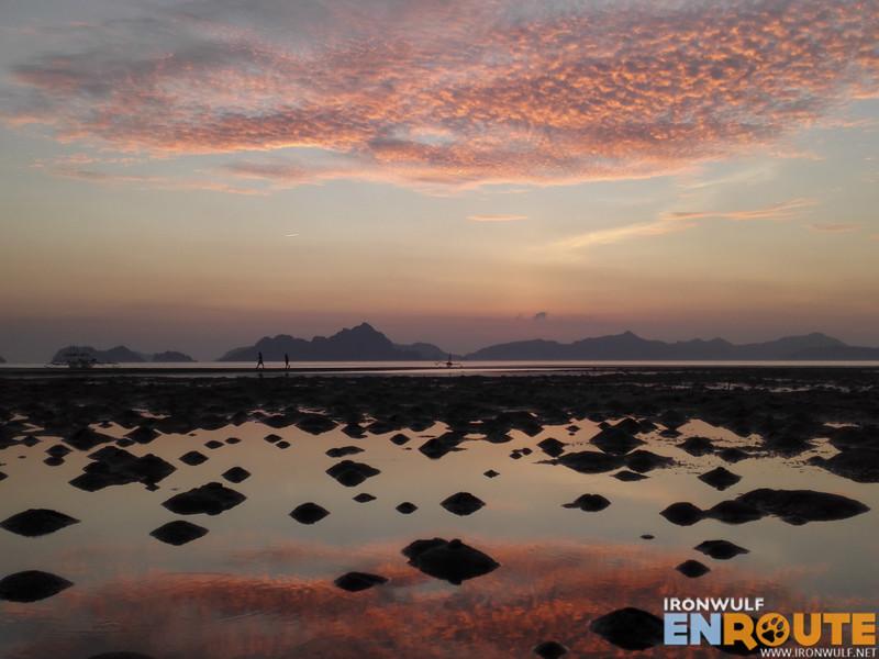 Low tide sunset at Corong-corong