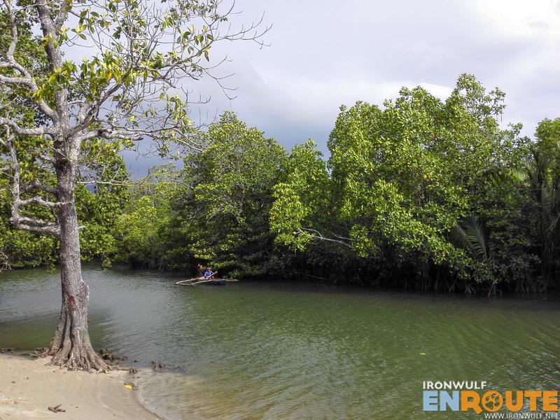 River and mangroves beside the Pangko Museum in SIbaltan