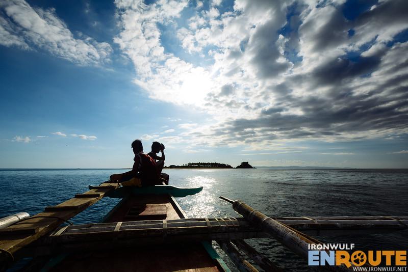 Approaching Sombrero Islands