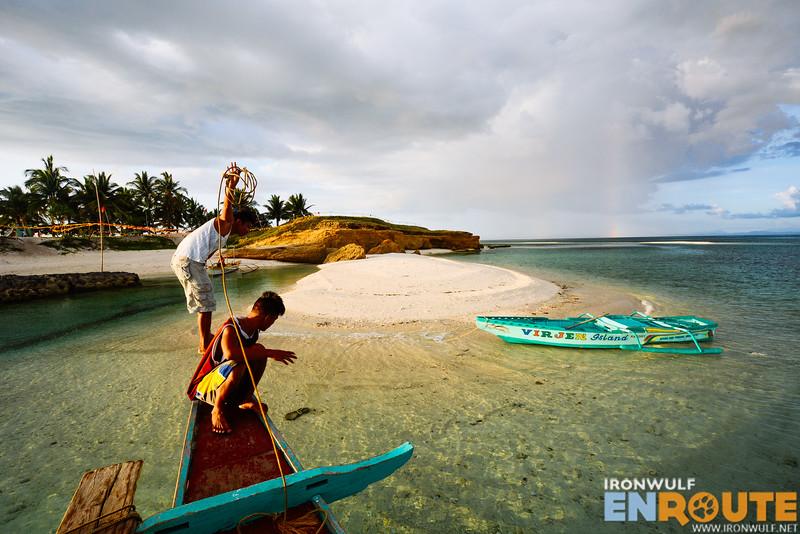 Arriving at Tinalisayan Islet