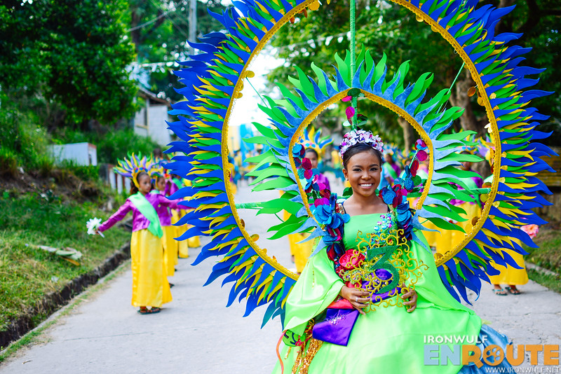 Like a ring of blue flames for Brgy Busing Festival Queen