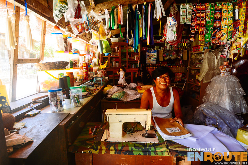 A sari-sari store and tailor shop in one