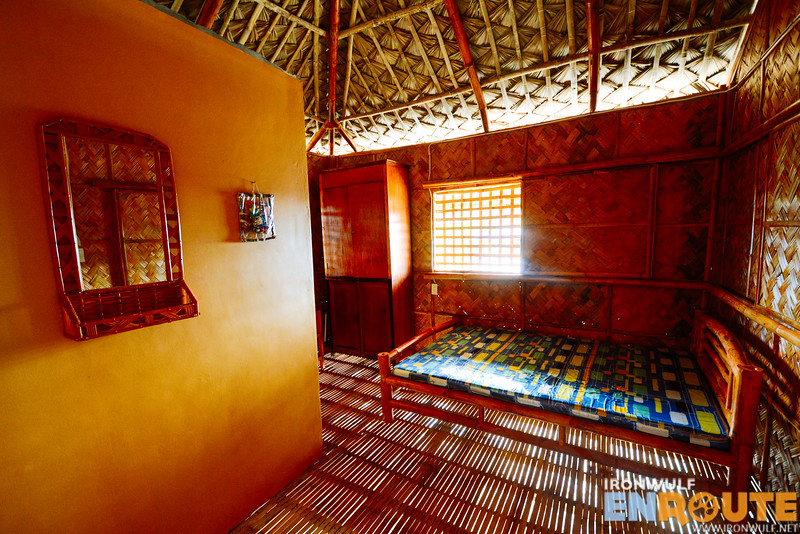 Inside one of the cottages with private bathroom