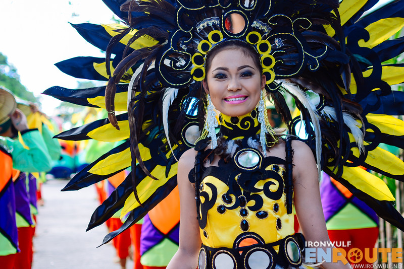 Elaborate costume with mirrors for this queen