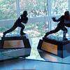 The 2 Naval Academy Heisman Trophys (Joe Bellino and Roger Staubach)