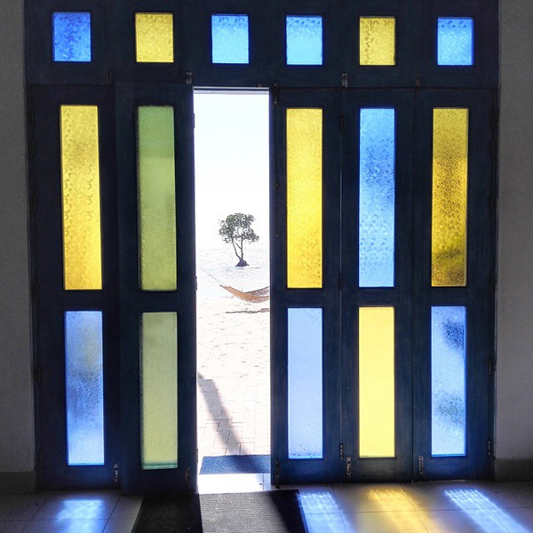 Beautiful stained glass doors