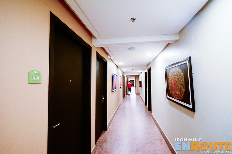 Corridor with artworks