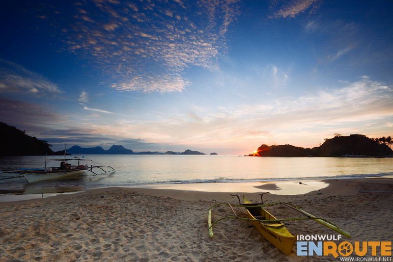 Clear view of the sunset at Calitang Beach