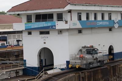 Panama Canal Transit on the Veendam  Panama Canal Transit on the Veendam; Gatun Locks