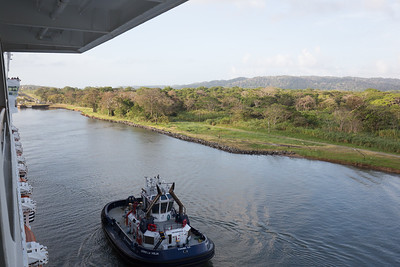 Panama Canal Transit on the Veendam; Out into the Gatun Lake area
