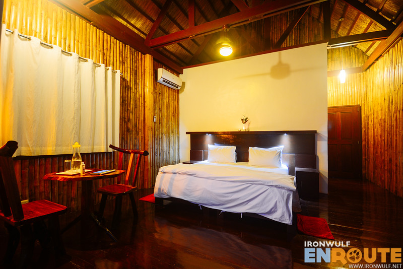 Large 50sqm rooms, high ceiling and made from native materials