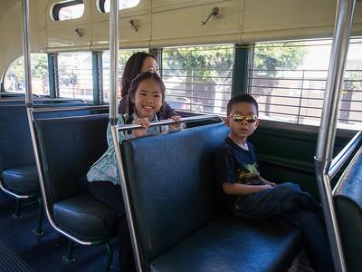 Riding the F line streetcar