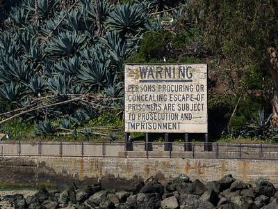 Alcatraz Island warning