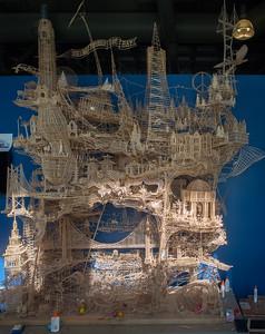 Toothpick sculpture, Exploratorium